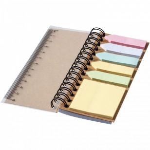 Kołozeszyt z kolorowymi karteczkami samoprzylepnymi Spinner