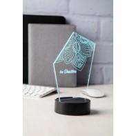trofeum z podświetleniem LED
