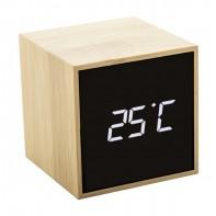 bambusowy zegar z alarmem