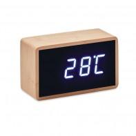 Bambusowy  budzik LED MIRI CLOCK