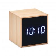 Bambusowy budzik LED MARA CLOCK
